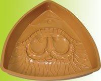 Silicone bakeware(Santa's face pan)
