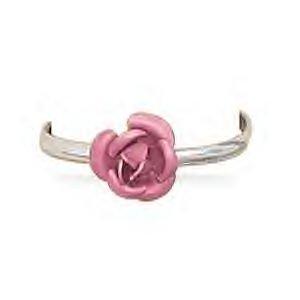 Pink Rose Design Sterling Silver Toe Ring