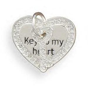 "Swarovski Crystal  ""Key To My Heart"" Fashion Pendant"