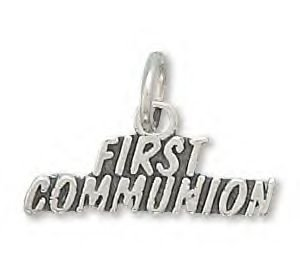Sterling Silver First Communion Charm