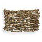 Twenty Strand Gold Glass Bead Stretch Bracelet