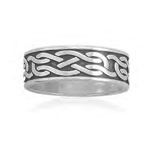 Celtic Knot Design Sterling Silver Ring