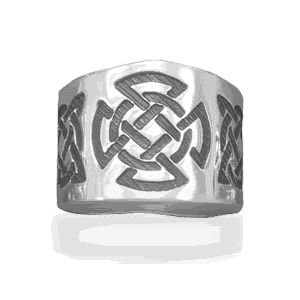 Celtic Design Cigar Band Ring