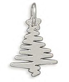 Zig Zag Christmas Tree Charm