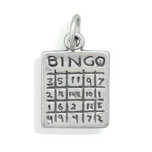 Sterling Silver Bingo Card Charm