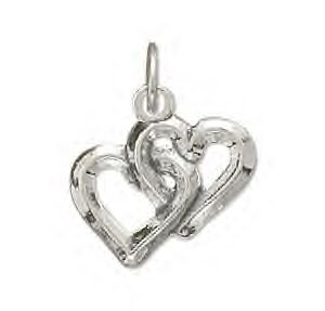 Reversible Interwoven Hearts Charm