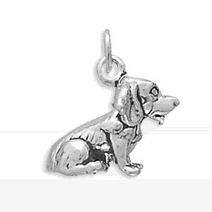 Sterling Silver Beagle Charm