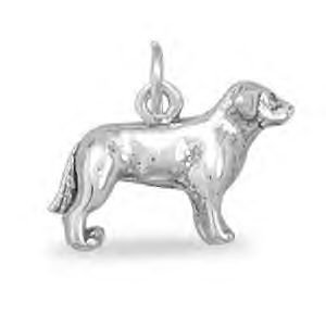 Standing Labrador Sterling Silver Charm