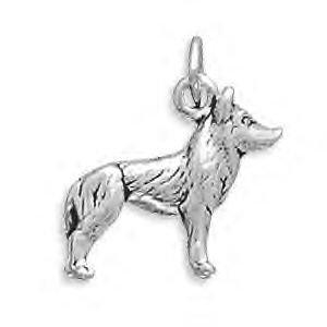 Sterling Silver Husky Dog Charm