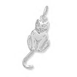 Cat With Movable Tail Charm
