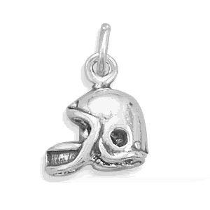 Sterling Silver Football Helmet Charm