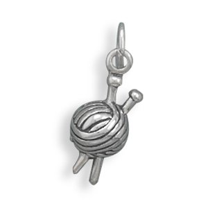 Sterling Silver Yarn Charm