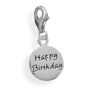 Happy Birthday Charm with Lobster Clasp