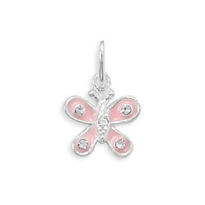 Enamel and Crystal Butterfly Charm