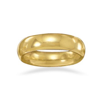 5mm 14 Karat Gold Plated Band