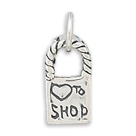 Love To Shop Reversible Bag Charm