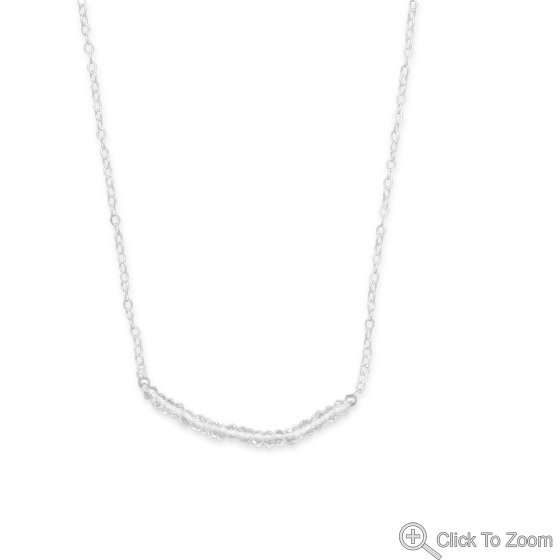 Faceted Clear Quartz Bead Necklace - April Birthstone
