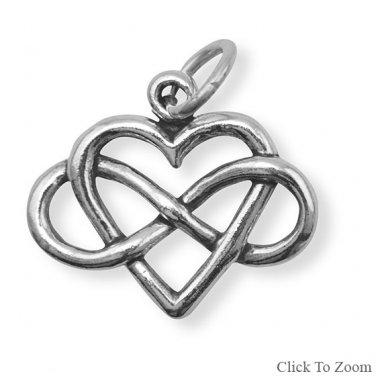 Infinity Heart Charm