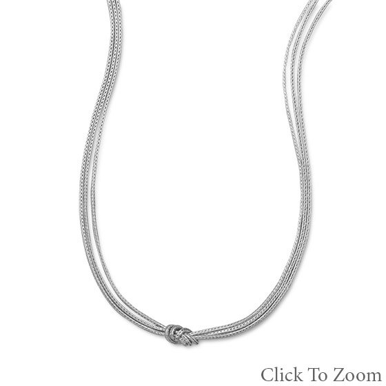 Triple Strand Foxtail Necklace