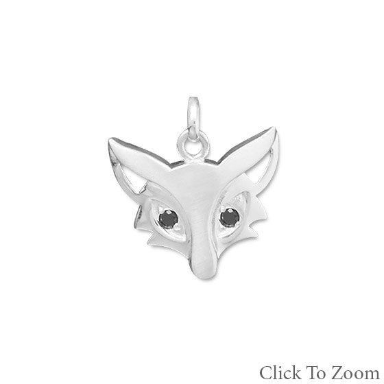 Cute Satin Finish Fox Pendant