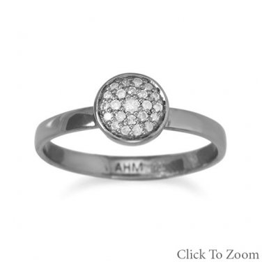 Midnight Collection Pave Gray Diamond Ring