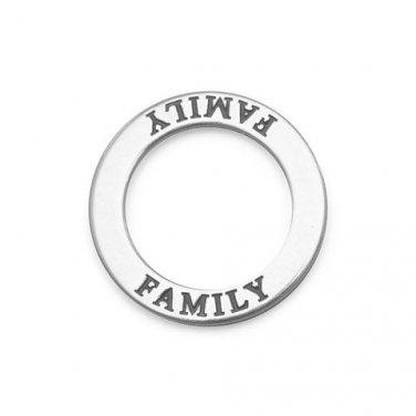 """Oxidized """"Family"""" Circle Pendant"""