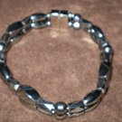 BLACK HANDBEADED magnetic hematite bracelet custom sizes Men's or Women's