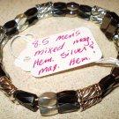 Men's or Women's silver magnetic hematite & magnetic hematite bracelet