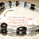 Men's or Women's grey, silver & black magnetic hematite bracelet