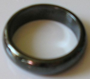BLACK Men's or women's magnetic hematite ring 7,8,9,10 or 11