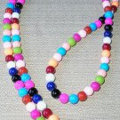 colorful! handbeaded glass id badge holder (lanyard)