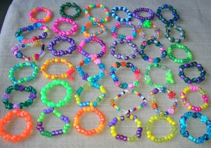 assorted stretchy kids bracelets