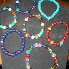 Assorted glass bracelets pick your color or have one custom