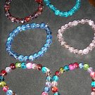 stretchy glass beaded bracelets pick your color or custom