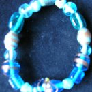 stretchy assorted glass beaded bracelet