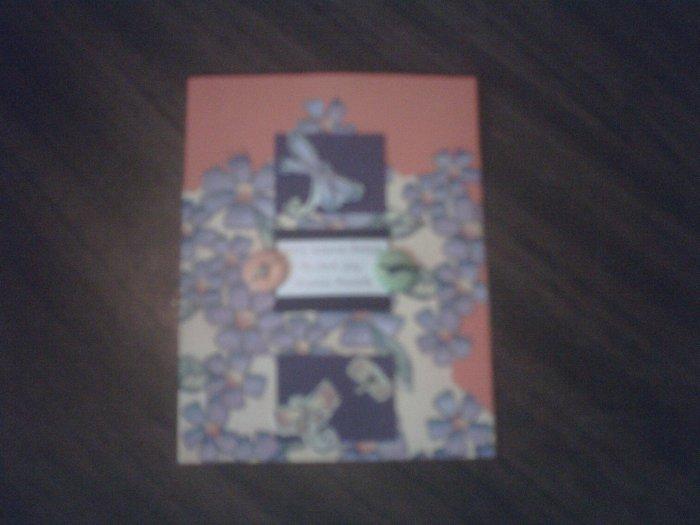 Orange greeting card.