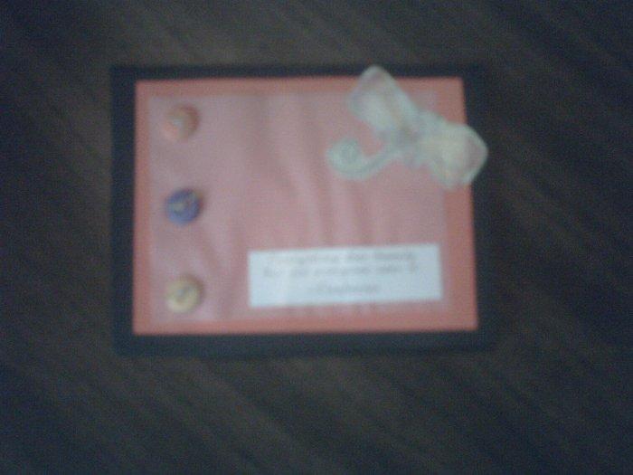 Black and Orange greeting card.