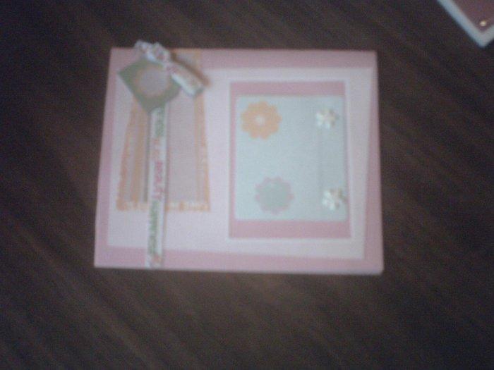 Pink greeting card.