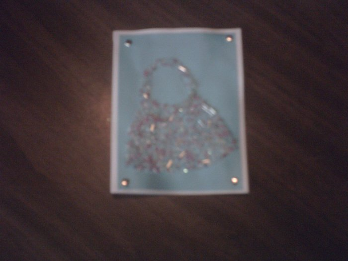 Decorative Beaded Greeting Card.