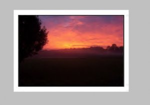 """Sunrise On The Farm"" art print"