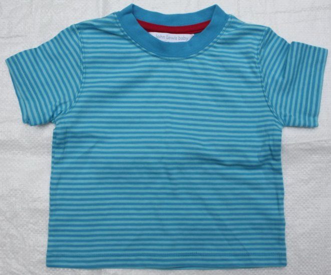 JOHN LEWIS Greenish Blue Stripes T- Shirt (RM25.90) LAST PIECE!