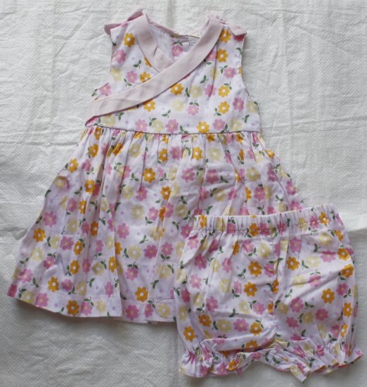 LAURA ASHLEY Pink Floral Dress  with Matching Panty (RM34.90)
