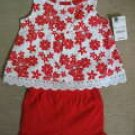 OKIEDOKIE Red Floral Printed Woven Top with Matching Short (RM29.90)