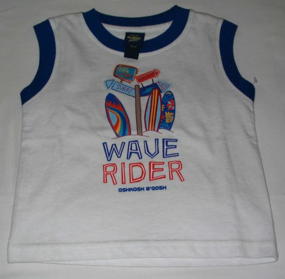 OSH KOSH Blue Sleeveless 'Wave Rider' Top (RM31.90)