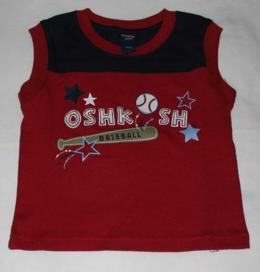 OSH KOSH 'Baseball' Sleeveless T- Shirt (RM31.90)