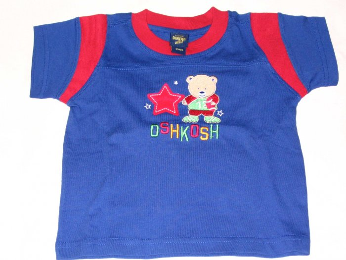 OSH KOSH Blue 'Bear' T- Shirt (RM32.00)