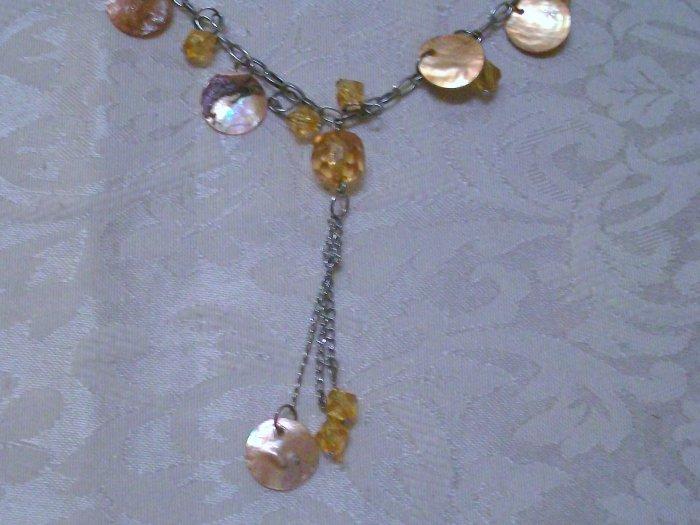 Orange Shell necklace