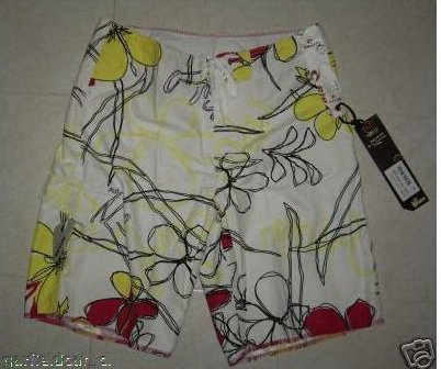 New RIPCURL Men's Board Shorts W:36 Yellow Flowery