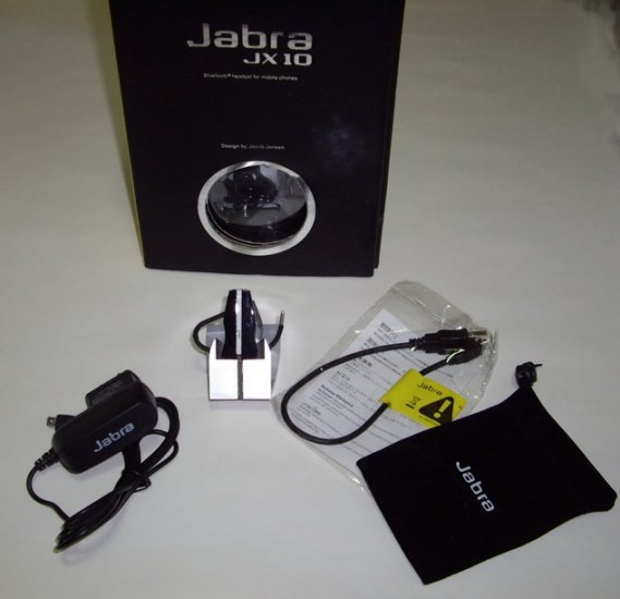 New Jabra JX10 Bluetooth Silver Headset