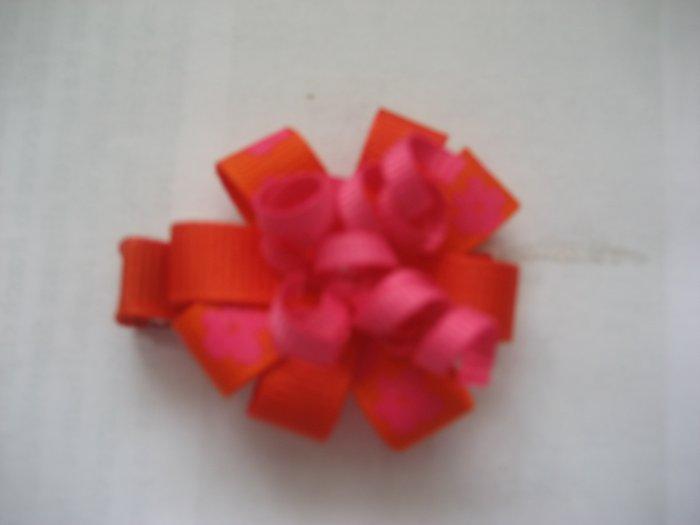 Orange flower clip